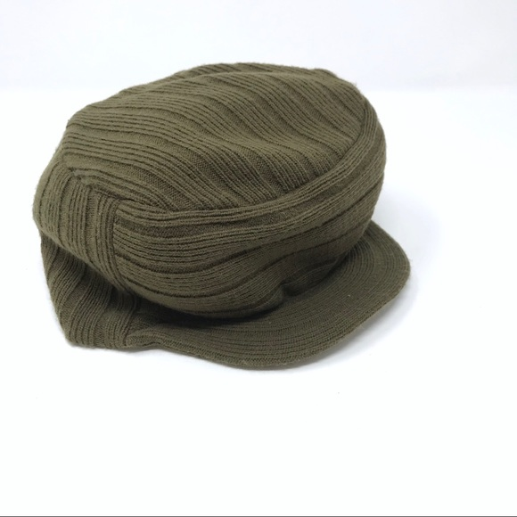 665b72203 The North Face Rib Knit Visor Beanie Hat Green
